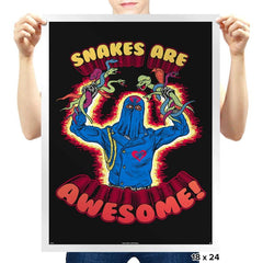 Snakes Are Awesome! - Prints - Posters - RIPT Apparel