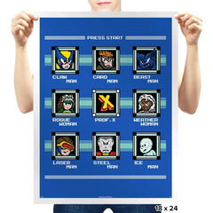 Mega X Man - Prints - Posters - RIPT Apparel