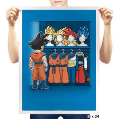 Saiyan Closet - Prints - Posters - RIPT Apparel