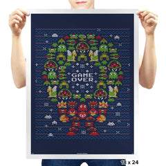 Gamer's X-mas - Prints - Posters - RIPT Apparel