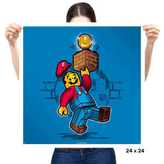 Super Brick Bros. - Prints - Posters - RIPT Apparel