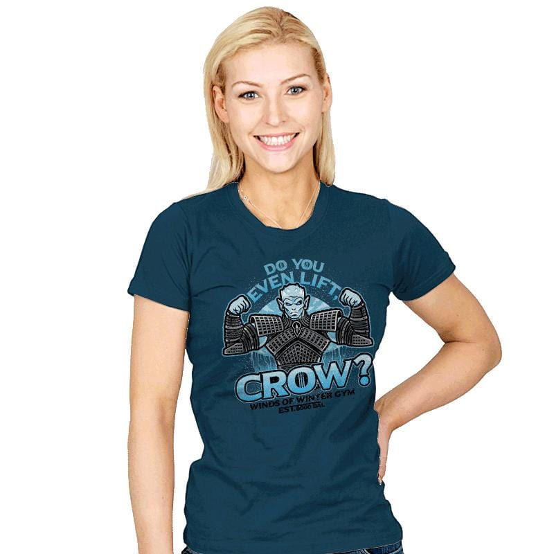 Do You Even Lift, Crow? - Womens - T-Shirts - RIPT Apparel