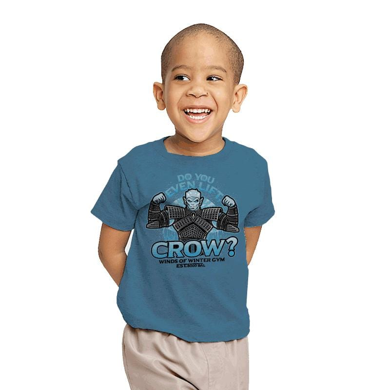 Do You Even Lift, Crow? - Youth - T-Shirts - RIPT Apparel