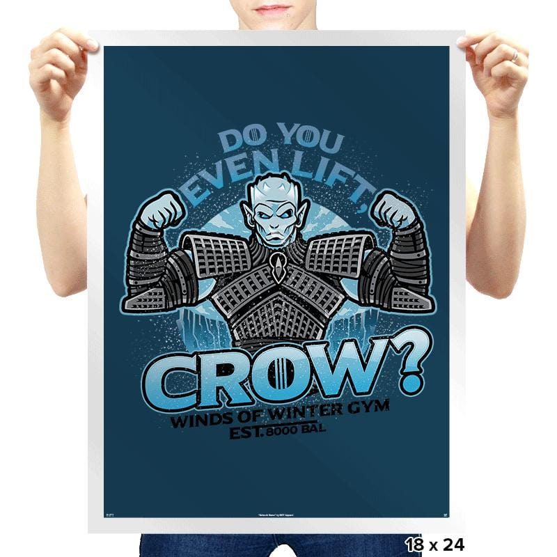 Do You Even Lift, Crow? - Prints - Posters - RIPT Apparel