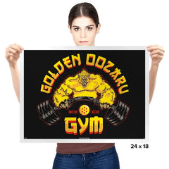The Golden Oozaru Gym - Prints - Posters - RIPT Apparel