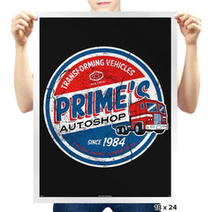 Prime's Autos - Prints - Posters - RIPT Apparel