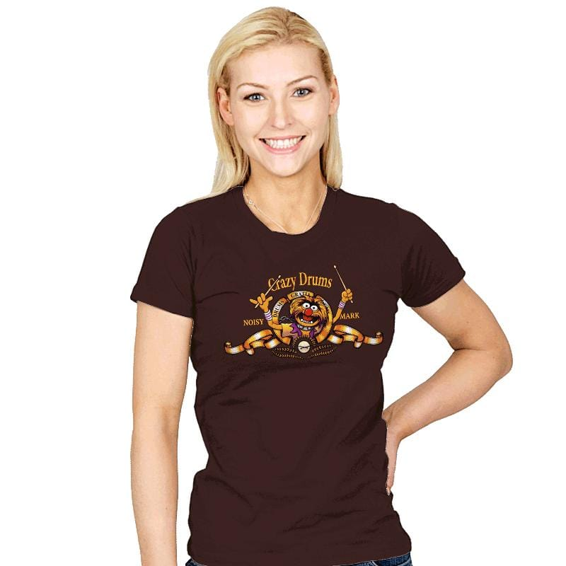 Crazy Drums - Womens - T-Shirts - RIPT Apparel
