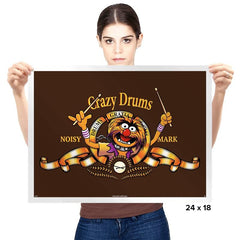 Crazy Drums - Prints - Posters - RIPT Apparel