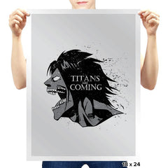 Titans are Coming - Prints - Posters - RIPT Apparel