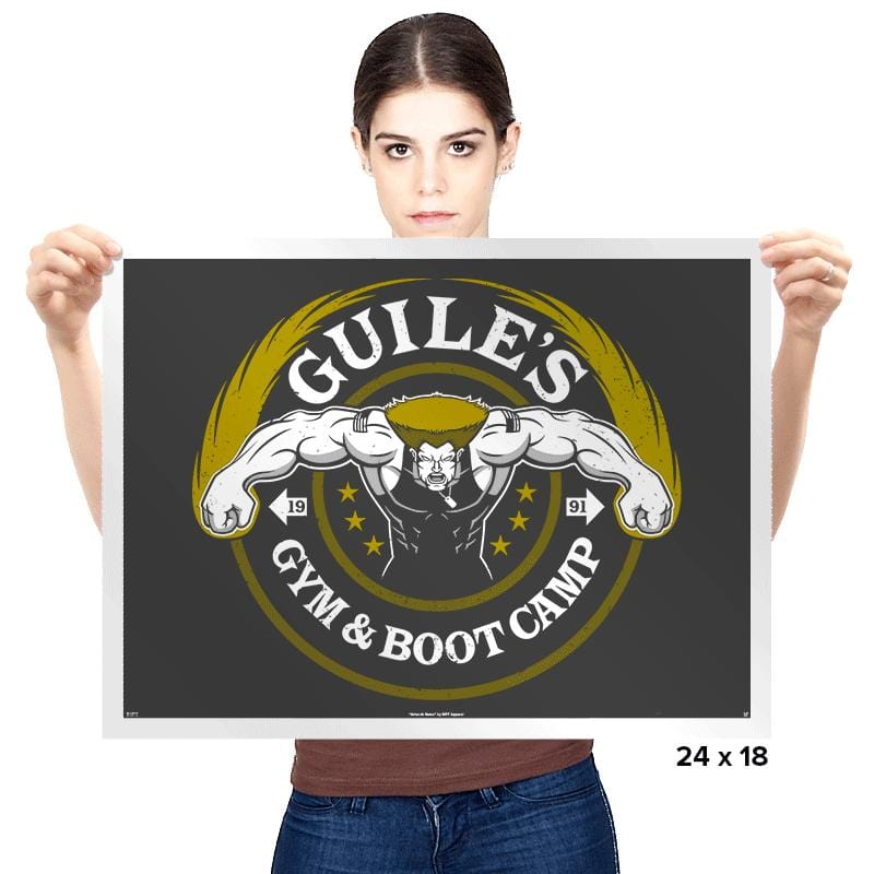 Guile's Gym & Boot Camp - Prints - Posters - RIPT Apparel