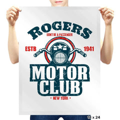 Rogers Motor Club - Prints - Posters - RIPT Apparel