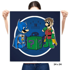 BatMario VS Riddler - Prints - Posters - RIPT Apparel