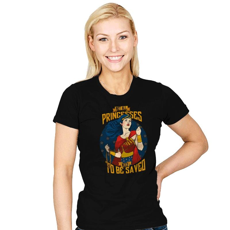 Not All Princesses Need To Be Saved - Womens - T-Shirts - RIPT Apparel