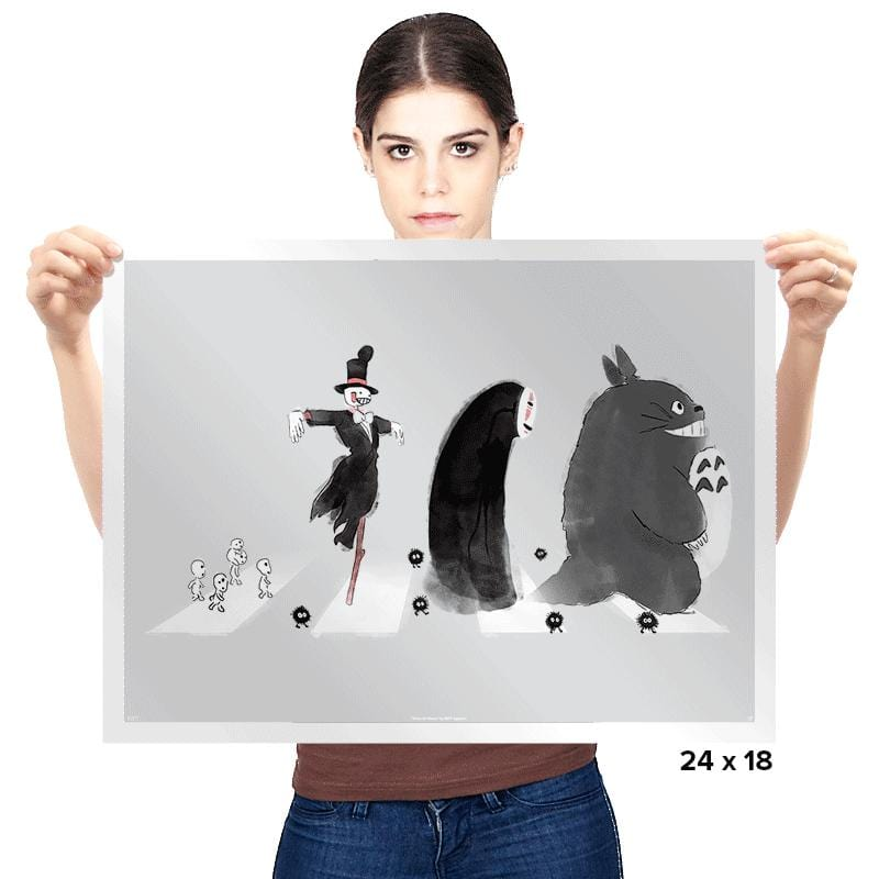 Ghibli Road - Prints - Posters - RIPT Apparel