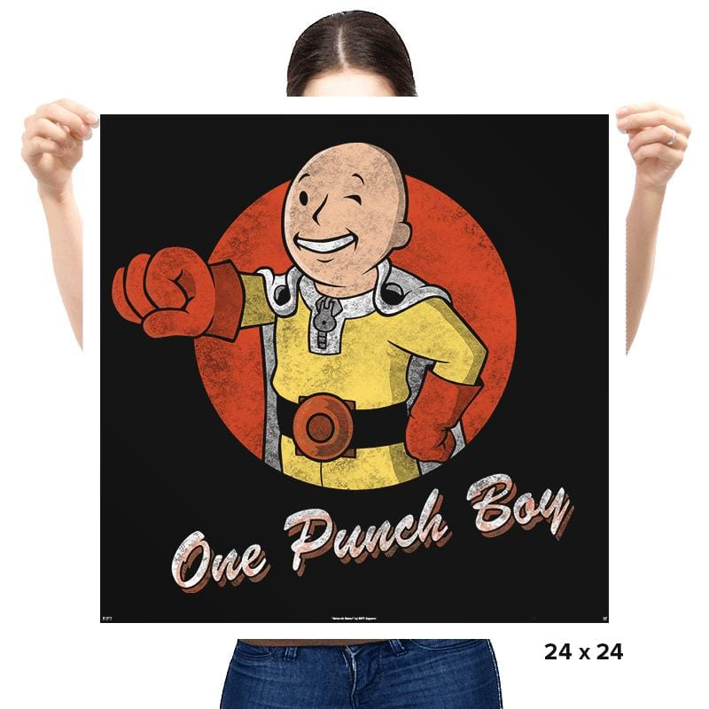 One Punch Boy - Prints - Posters - RIPT Apparel