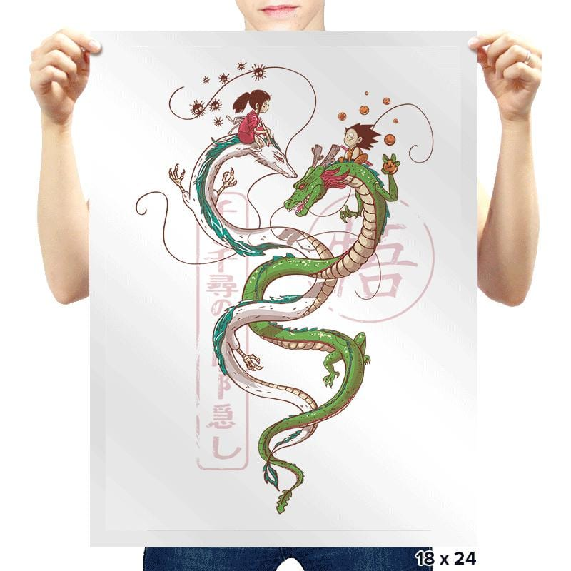 Dancing Dragons - Prints - Posters - RIPT Apparel
