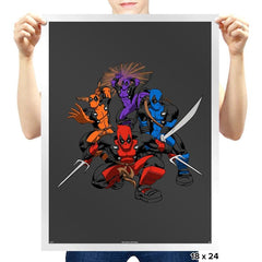 Teenage (Not) Mutant Ninja Deadpools - Prints - Posters - RIPT Apparel