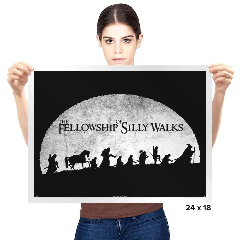 The Fellowship of Silly Walks - Prints - Posters - RIPT Apparel