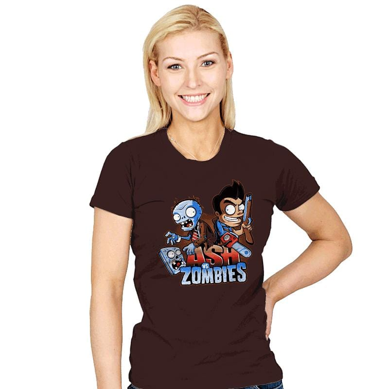 Ash vs Zombies - Womens - T-Shirts - RIPT Apparel