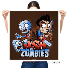 Ash vs Zombies - Prints - Posters - RIPT Apparel