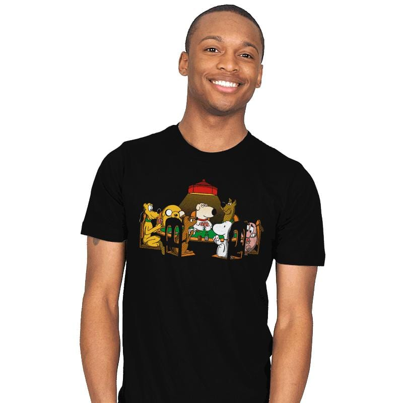 Dogs Playing Poker - Mens - T-Shirts - RIPT Apparel