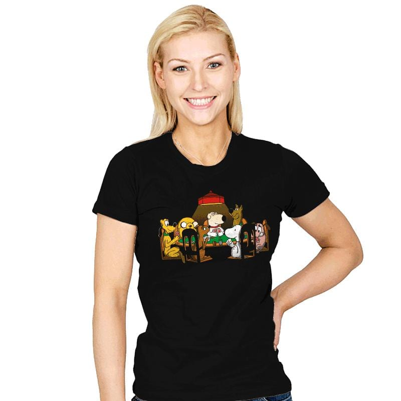 Dogs Playing Poker - Womens - T-Shirts - RIPT Apparel