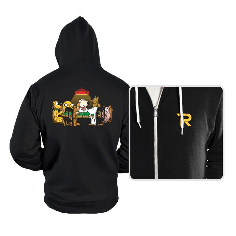 Dogs Playing Poker - Hoodies - Hoodies - RIPT Apparel