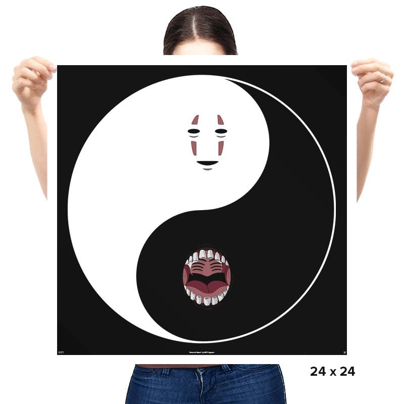 Yin Yang Face - Prints - Posters - RIPT Apparel