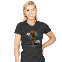 Plant a Tree, Save the Galaxy - Womens - T-Shirts - RIPT Apparel