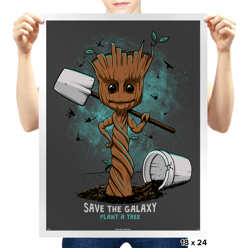 Plant a Tree, Save the Galaxy - Prints - Posters - RIPT Apparel