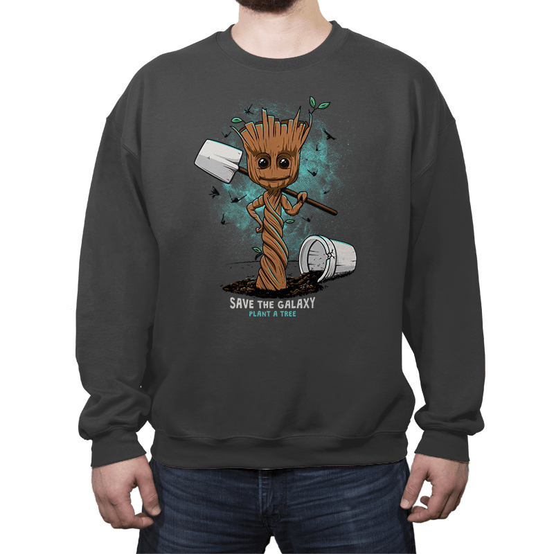 Plant a Tree, Save the Galaxy - Crew Neck - Crew Neck - RIPT Apparel