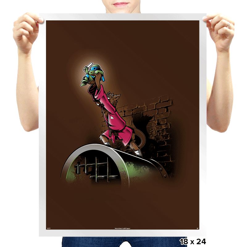 The Turtle King - Prints - Posters - RIPT Apparel
