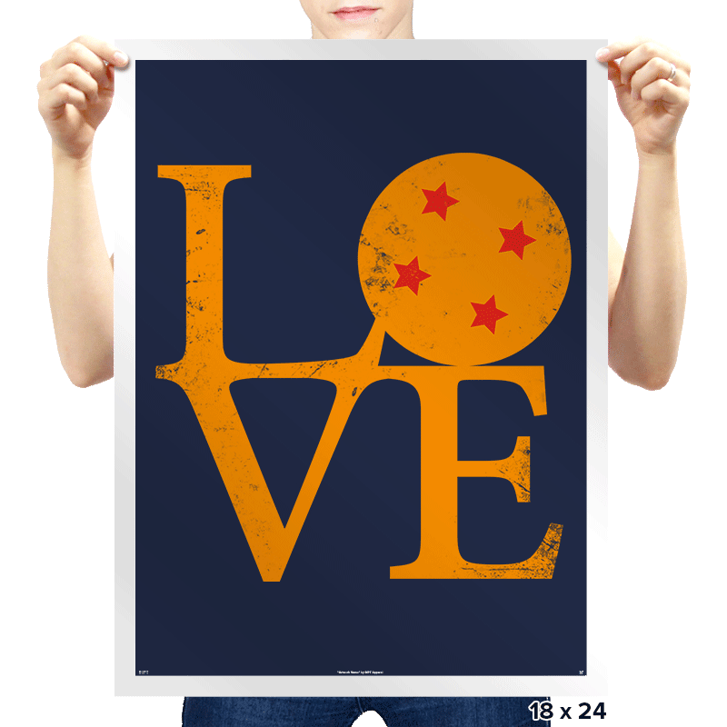 Dragon Love - Prints - Posters - RIPT Apparel