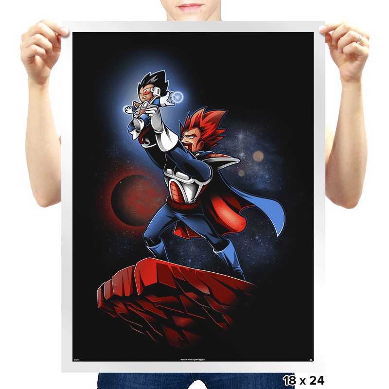 The Saiyan King - Prints - Posters - RIPT Apparel