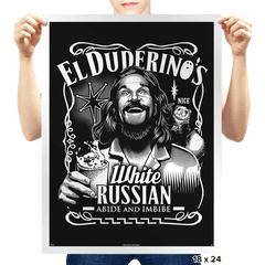 Duderino White Russian - Prints - Posters - RIPT Apparel