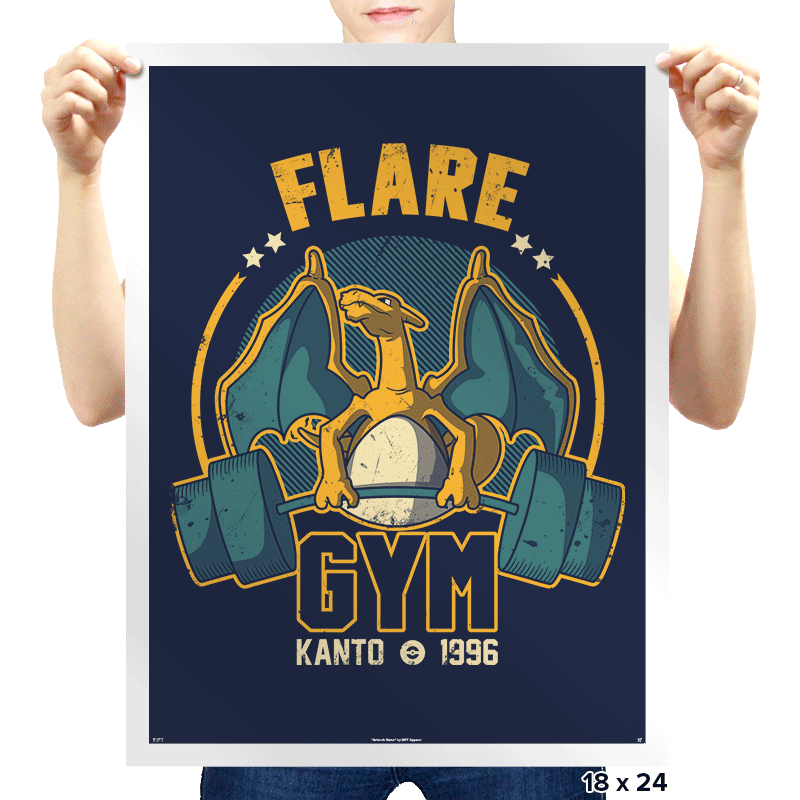 Flare Gym - Prints - Posters - RIPT Apparel