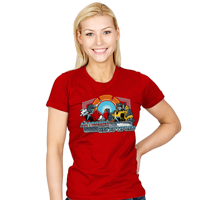 Autobros Before Deceptifoes - Womens - T-Shirts - RIPT Apparel