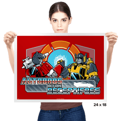 Autobros Before Deceptifoes - Prints - Posters - RIPT Apparel