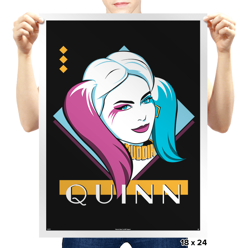 Eighties Quinn - Prints - Posters - RIPT Apparel