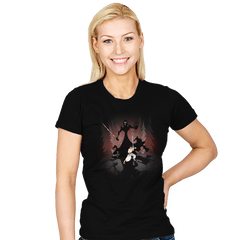 Samurai Vs Ren - Womens - T-Shirts - RIPT Apparel