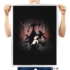Samurai Vs Ren - Prints - Posters - RIPT Apparel