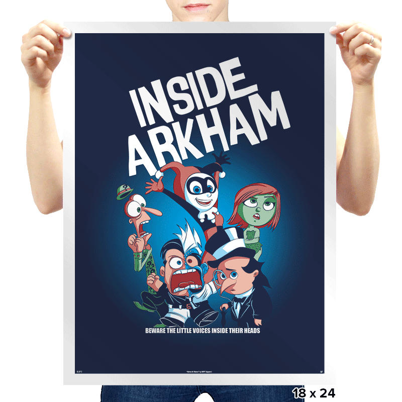 Inside Arkham - Prints - Posters - RIPT Apparel