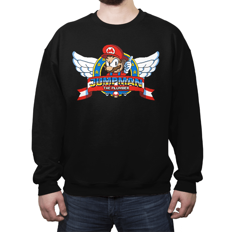 Jumpman the Plumber - Crew Neck - Crew Neck - RIPT Apparel