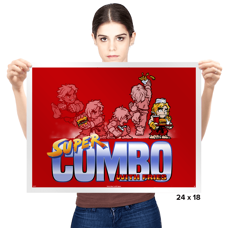 Super Combo With Fries - Prints - Posters - RIPT Apparel