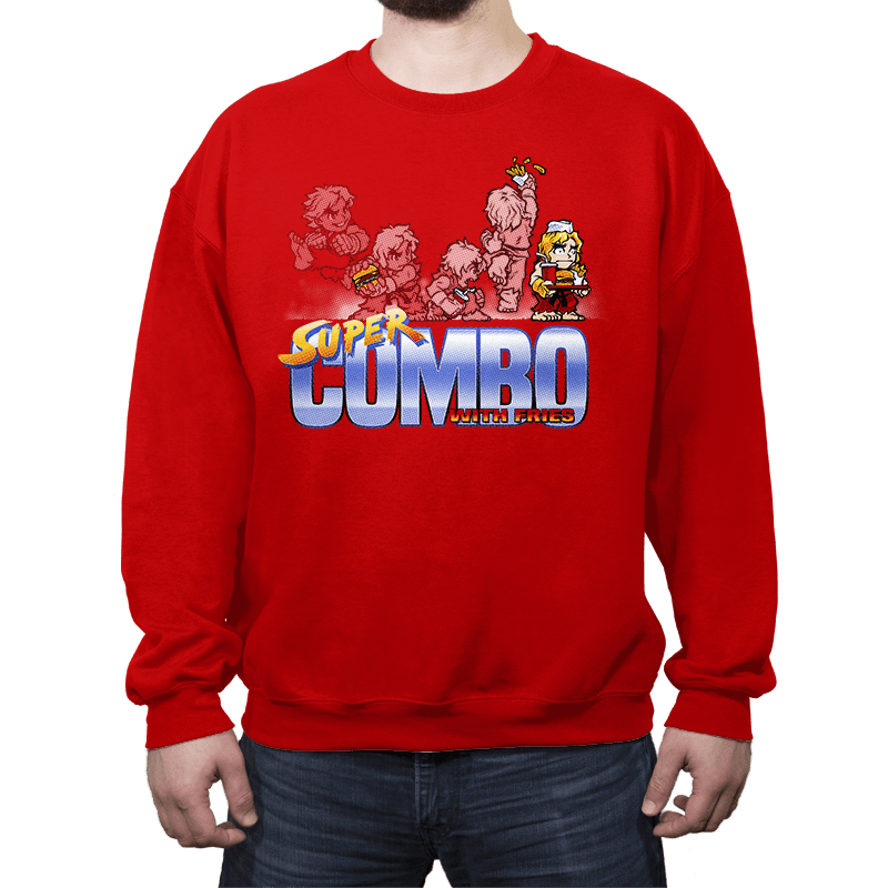 Super Combo With Fries - Crew Neck - Crew Neck - RIPT Apparel