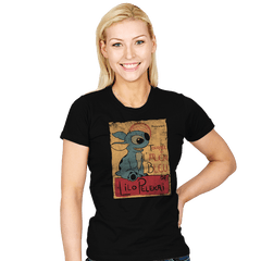 Tournee de l'alien bleu - Womens - T-Shirts - RIPT Apparel