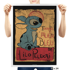 Tournee de l'alien bleu - Prints - Posters - RIPT Apparel