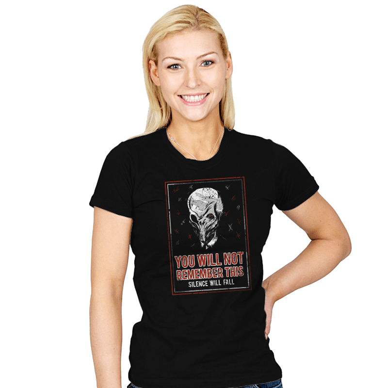 You will NOT remember this. - Womens - T-Shirts - RIPT Apparel