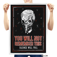 You will NOT remember this. - Prints - Posters - RIPT Apparel