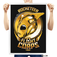 Rocketeer Flight Corps - Prints - Posters - RIPT Apparel
